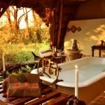 Outside bath at The Hide Safari Lodge