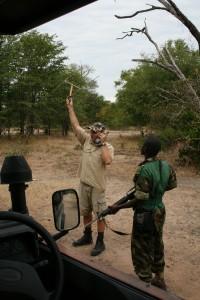 Tracking black rhino in Liwonde park