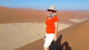 Mari Climbing Big Daddy Namibia